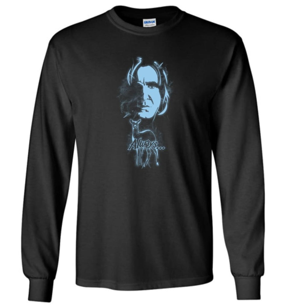 Harry Potter Snape Always Shirt Hogwarts Professor Severus Snape Sweater Jacket Hoodie - Long Sleeve T-Shirt - Black / M