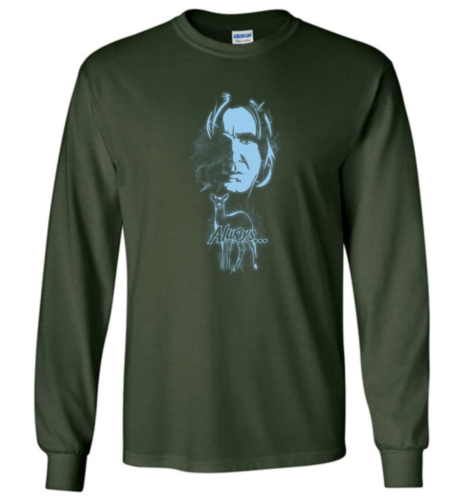 Harry Potter Snape Always Shirt Hogwarts Professor Severus Snape Sweater Jacket Hoodie - Long Sleeve T-Shirt - Forest