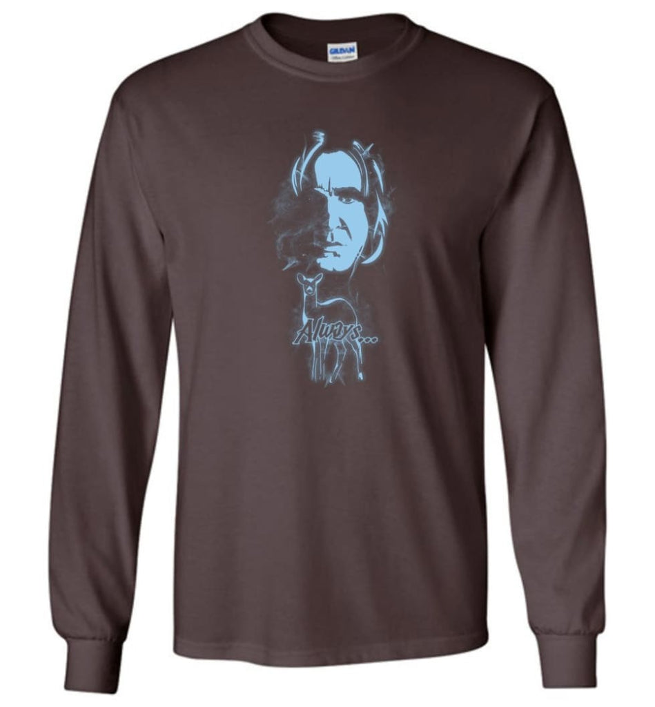 Harry Potter Snape Always Shirt Hogwarts Professor Severus Snape Sweater Jacket Hoodie - Long Sleeve T-Shirt - Dark