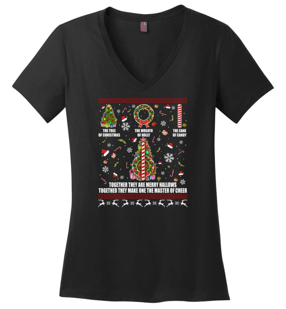 Harry Potter Ugly Sweater Merry Hallows They Make One Master Of Cheer Ugly Christmas Gift The Tree of Christmas Ladies
