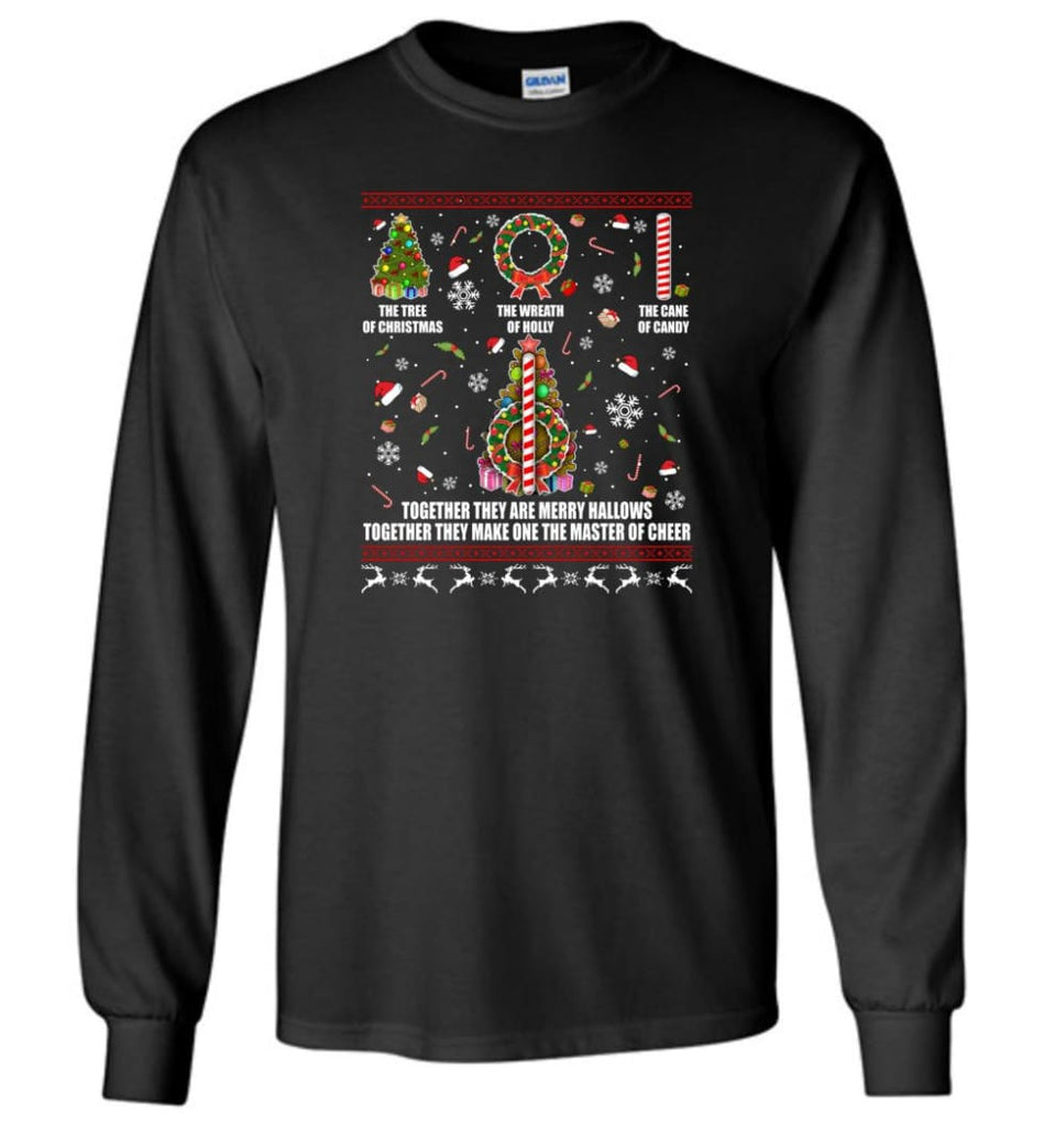 Harry Potter Ugly Sweater Merry Hallows They Make One Master Of Cheer Ugly Christmas Gift The Tree of Christmas Long