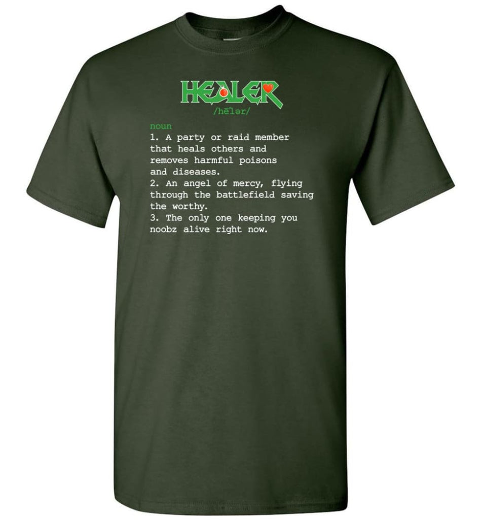 Healer Definition Healer Meaning T-Shirt - Forest Green / S