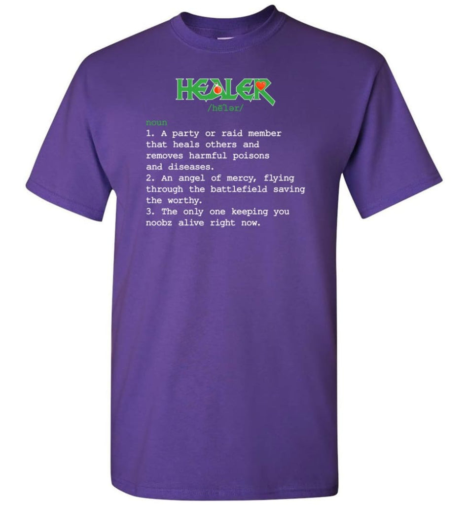 Healer Definition Healer Meaning T-Shirt - Purple / S