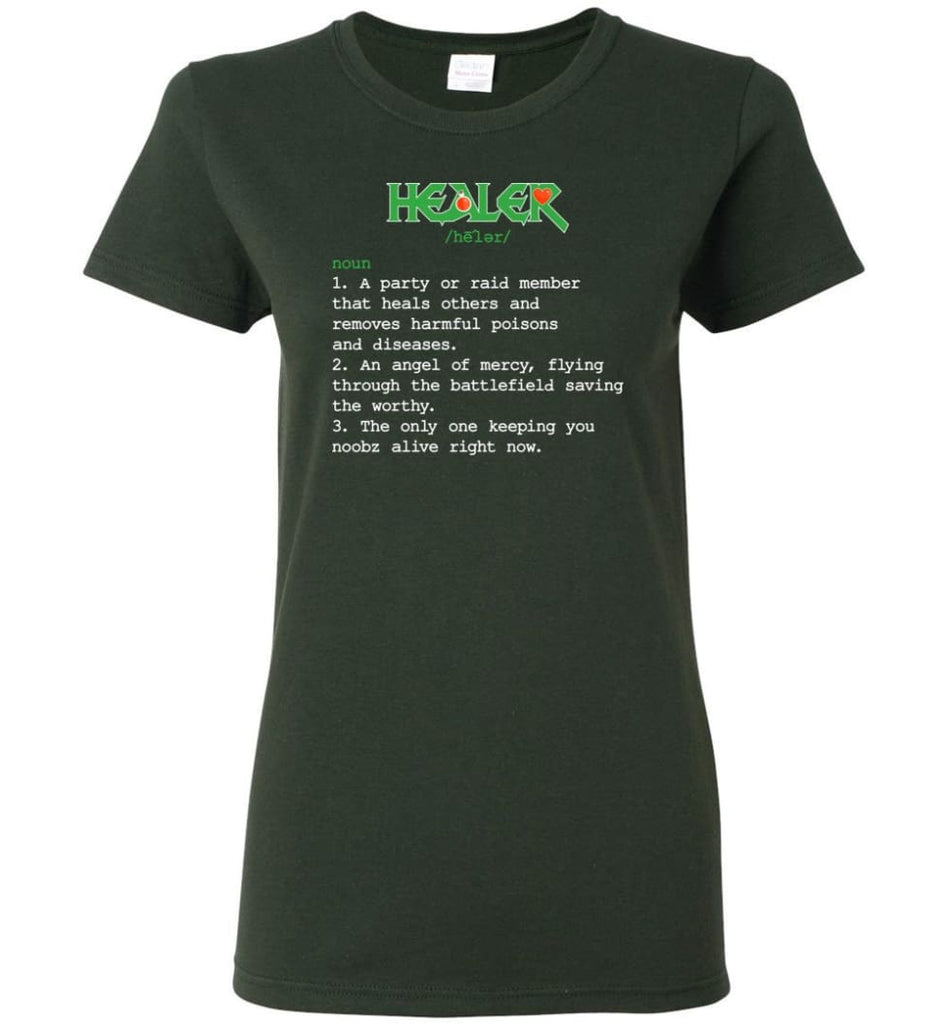 Healer Definition Healer Meaning Women Tee - Forest Green / M