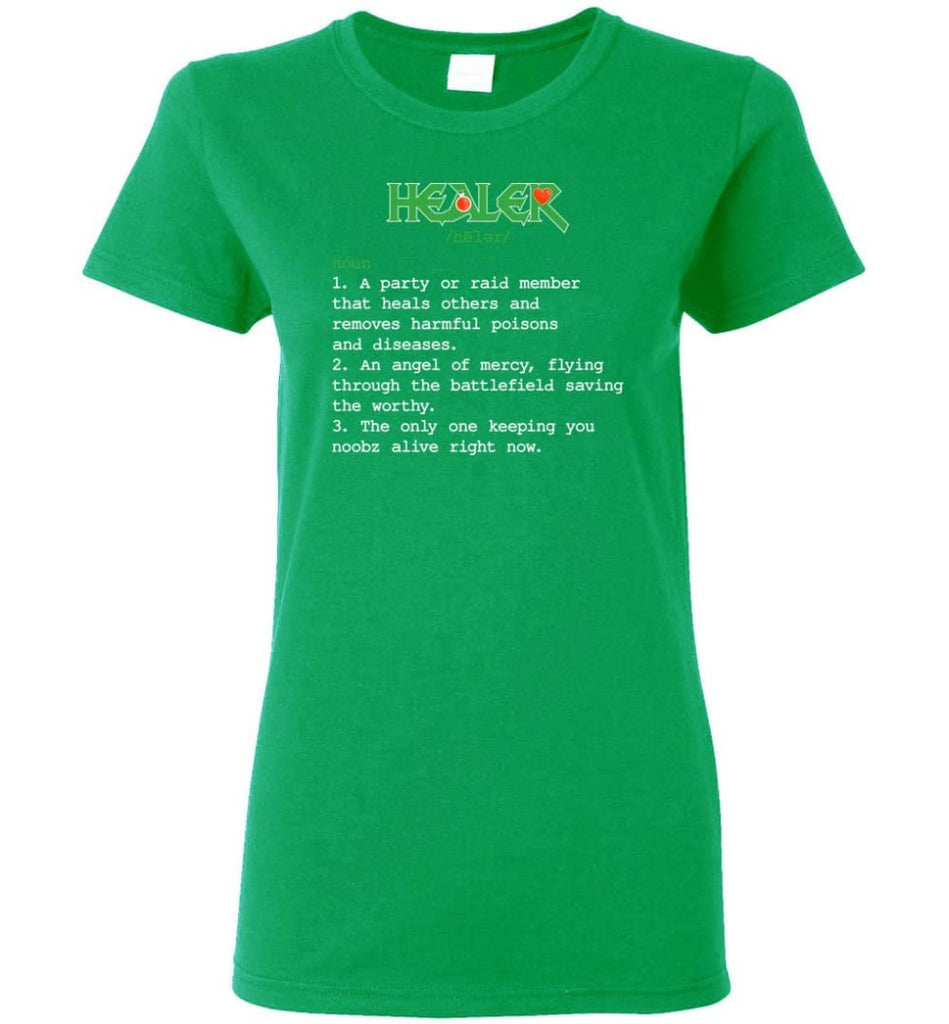 Healer Definition Healer Meaning Women Tee - Irish Green / M