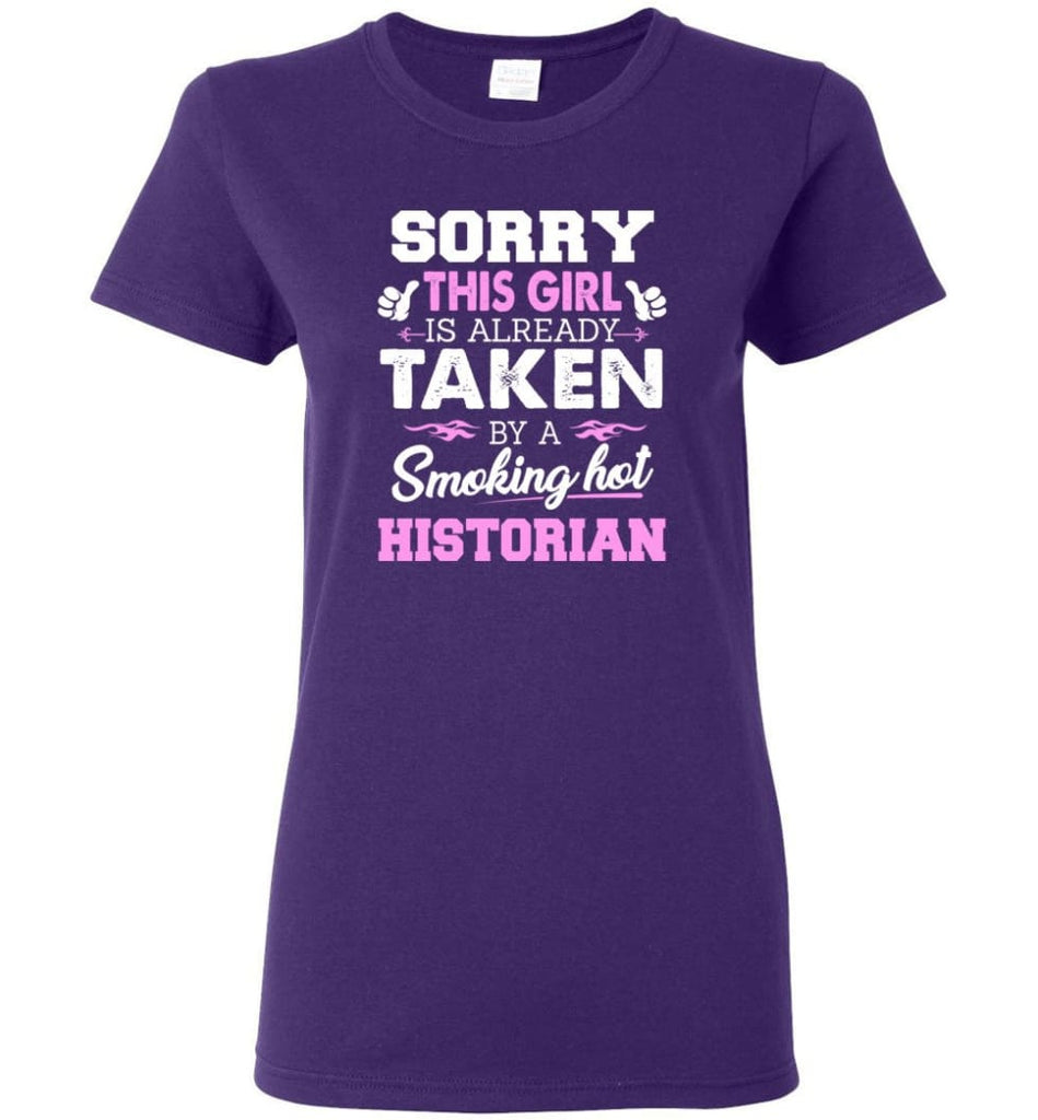 Historian Shirt Cool Gift for Girlfriend Wife or Lover Women Tee - Purple / M - 10