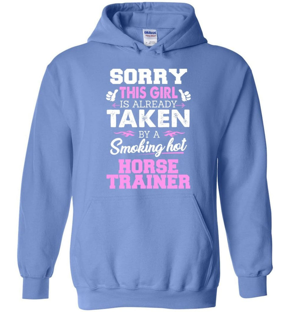 Horse Trainer Shirt Cool Gift For Girlfriend Wife Hoodie - Carolina Blue / M