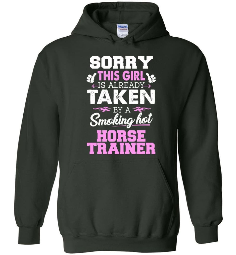 Horse Trainer Shirt Cool Gift For Girlfriend Wife Hoodie - Forest Green / M