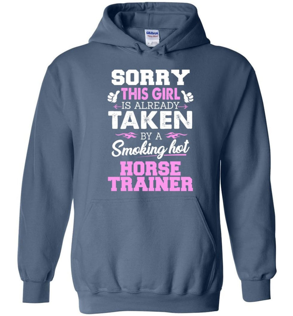 Horse Trainer Shirt Cool Gift For Girlfriend Wife Hoodie - Indigo Blue / M
