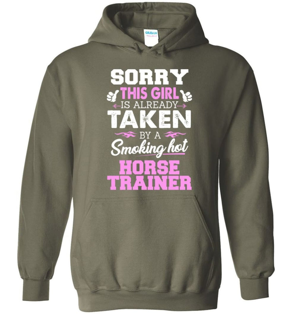 Horse Trainer Shirt Cool Gift For Girlfriend Wife Hoodie - Military Green / M
