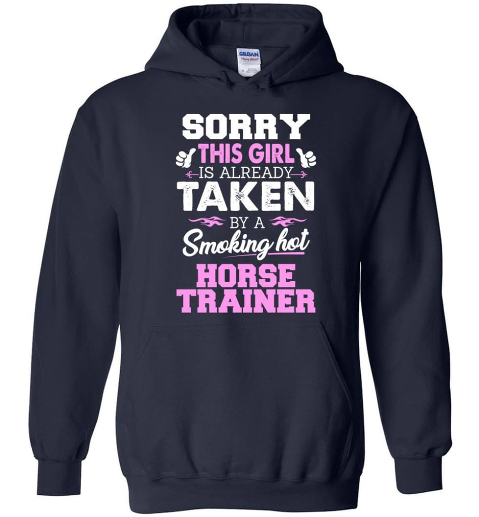 Horse Trainer Shirt Cool Gift For Girlfriend Wife Hoodie - Navy / M