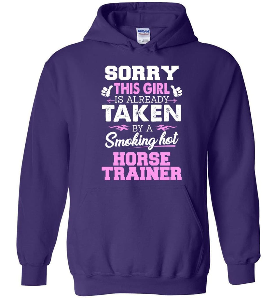 Horse Trainer Shirt Cool Gift For Girlfriend Wife Hoodie - Purple / M