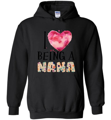 I love being a Nana Gift for Grandma Summer Design - Hoodie - Black / M - Hoodie