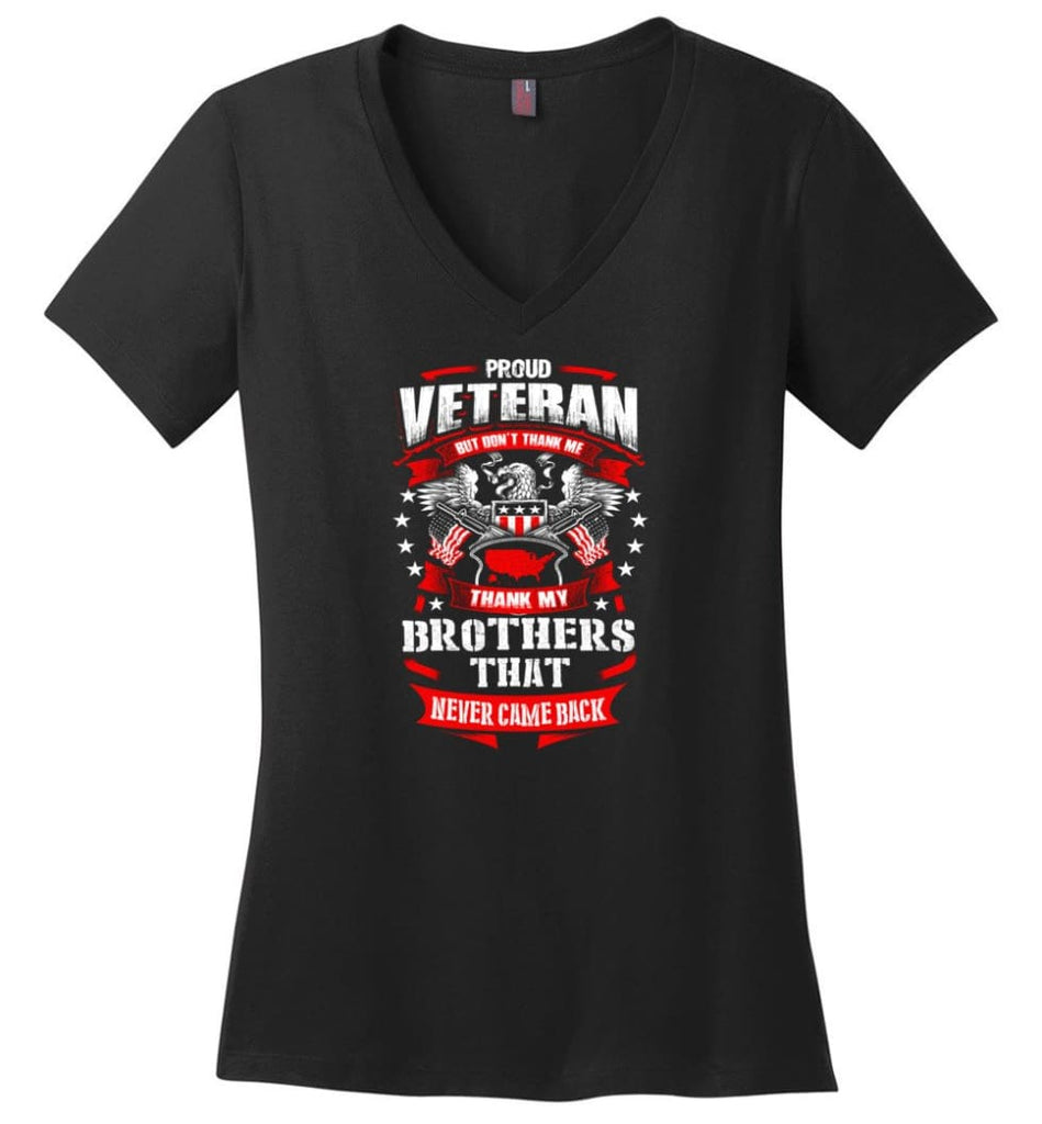 I Once Took A Solemn Oath To Defend The Constitution Against All Enemies Veterans Ladies V-Neck - Black / M