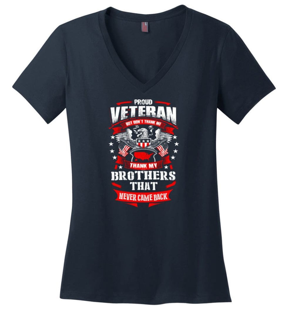 I Once Took A Solemn Oath To Defend The Constitution Against All Enemies Veterans Ladies V-Neck - Navy / M