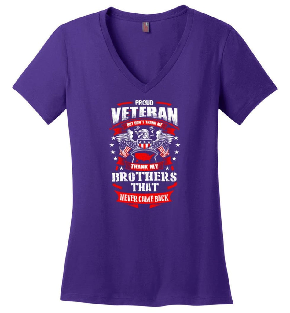 I Once Took A Solemn Oath To Defend The Constitution Against All Enemies Veterans Ladies V-Neck - Purple / M