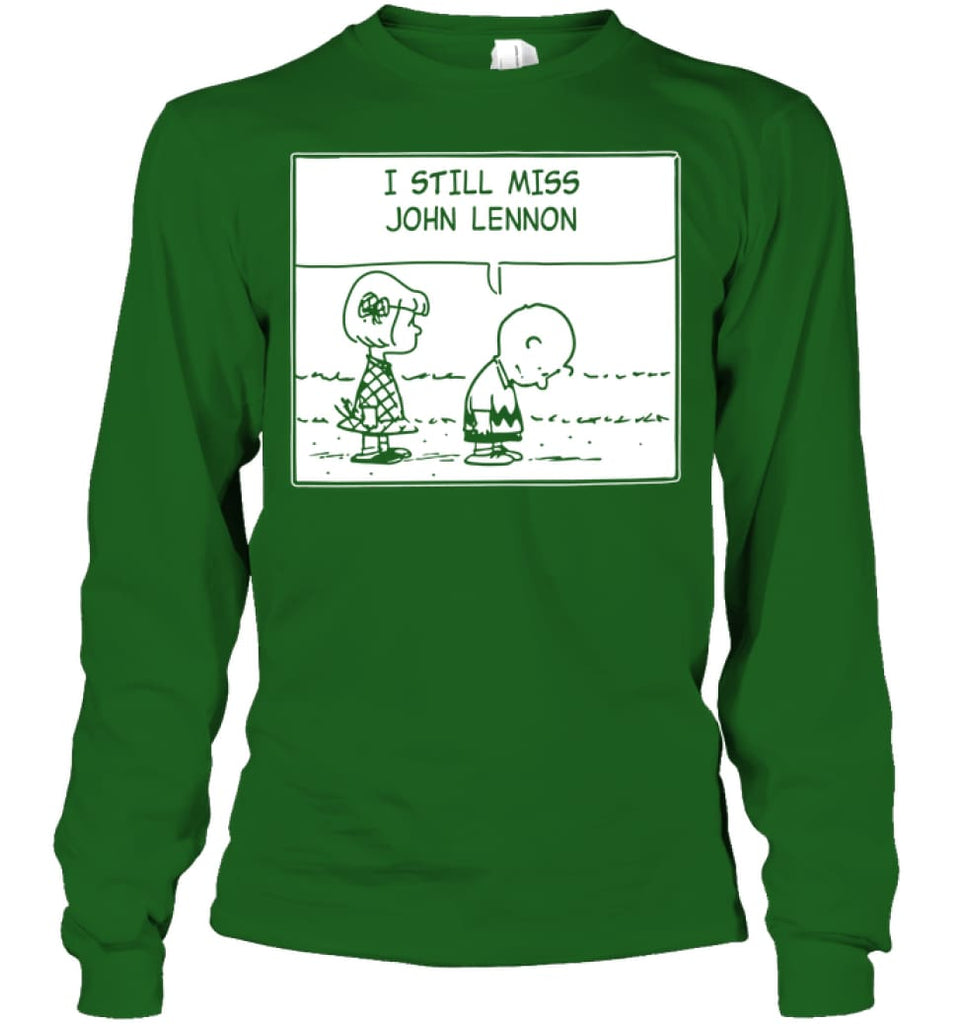 I Still Miss Him Long Sleeve - Gildan 6.1oz Long Sleeve / Irish Green / S - Apparel