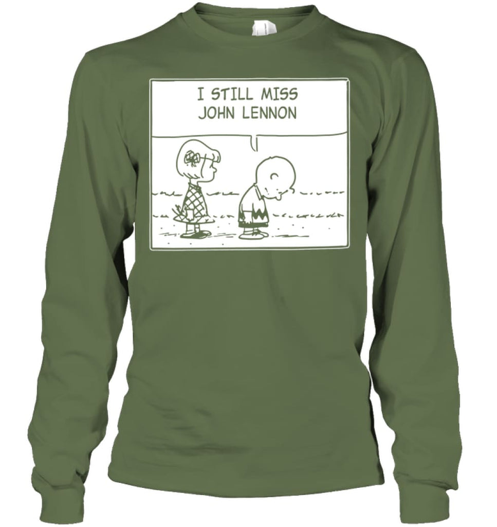 I Still Miss Him Long Sleeve - Gildan 6.1oz Long Sleeve / Military Green / S - Apparel