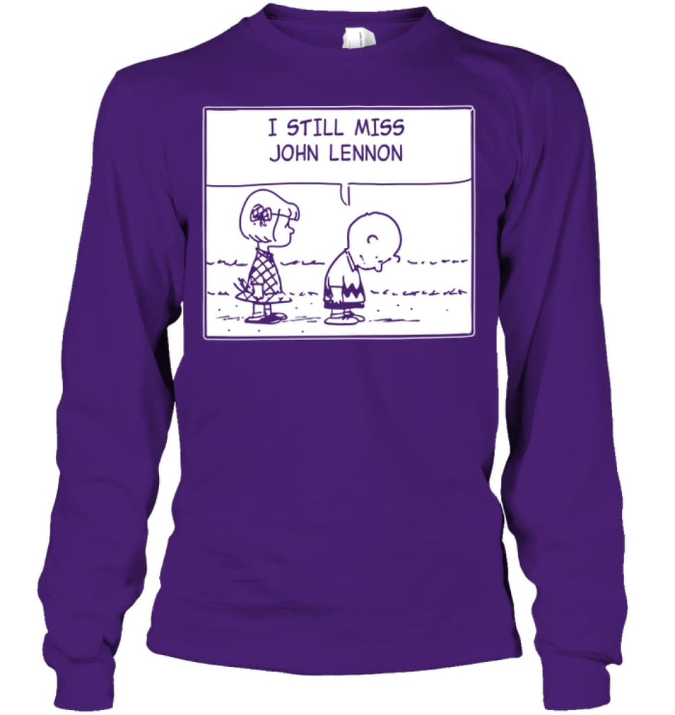 I Still Miss Him Long Sleeve - Gildan 6.1oz Long Sleeve / Purple / S - Apparel
