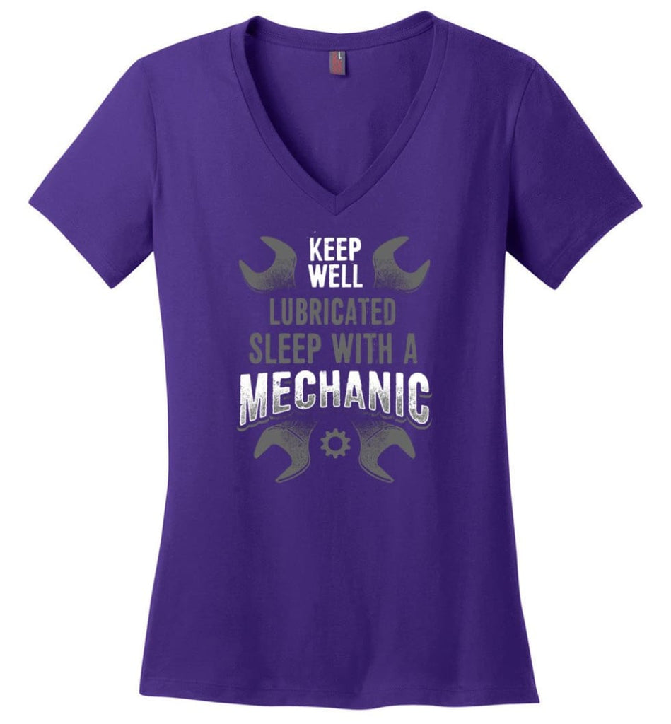 I'm A Mechanic I'd Call Your Mom Shirt Ladies V-Neck - Purple / M