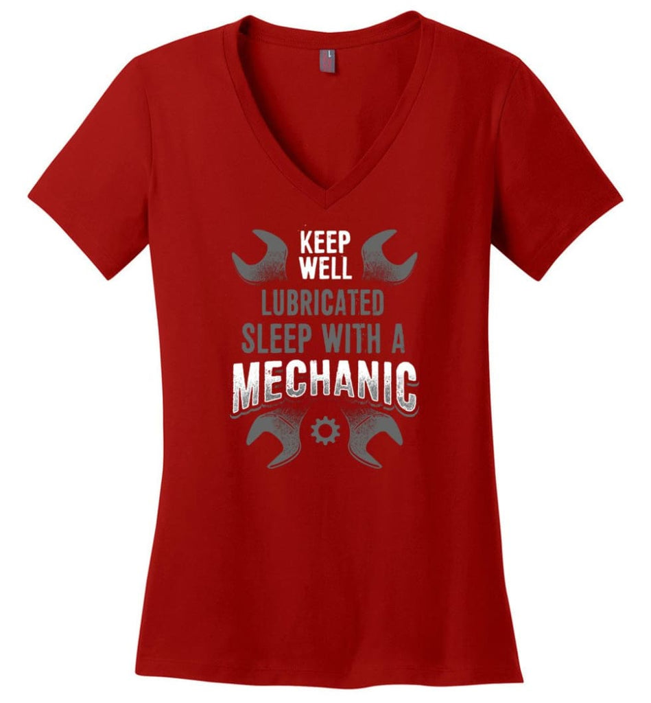 I'm A Mechanic I'd Call Your Mom Shirt Ladies V-Neck - Red / M