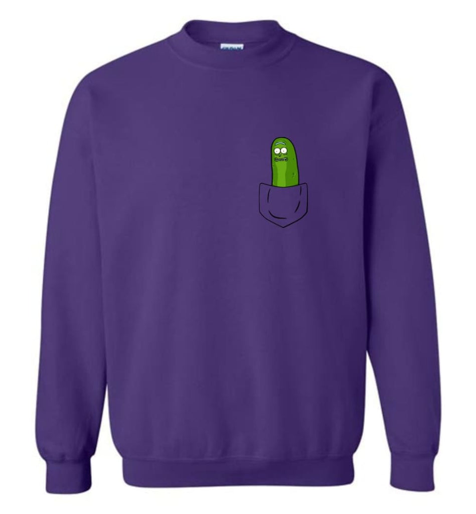 I'M Pickle Rick Shirt Pickle Rick In My Pocket Rick Morty Sweatshirt Sweatshirt - Purple / M