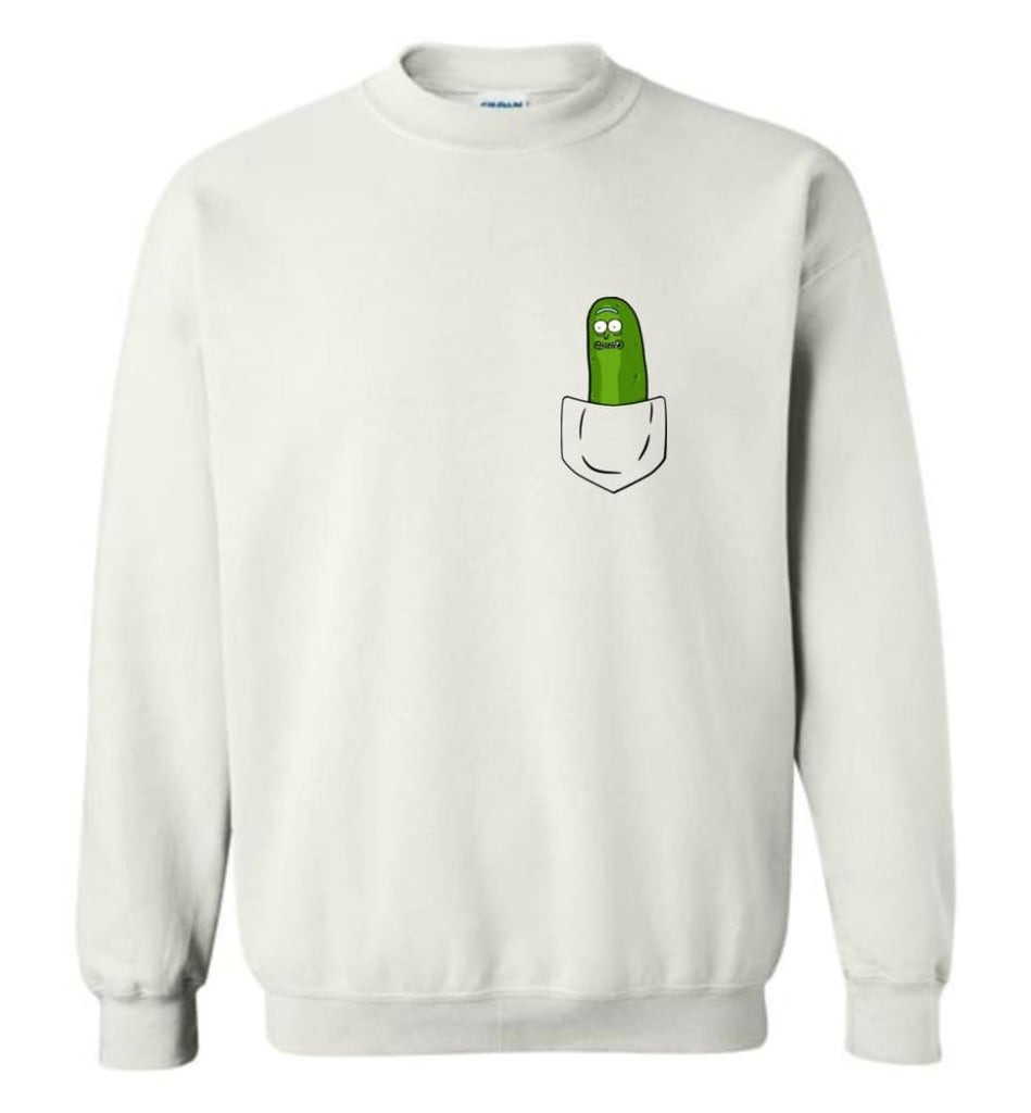 I'M Pickle Rick Shirt Pickle Rick In My Pocket Rick Morty Sweatshirt Sweatshirt - White / M