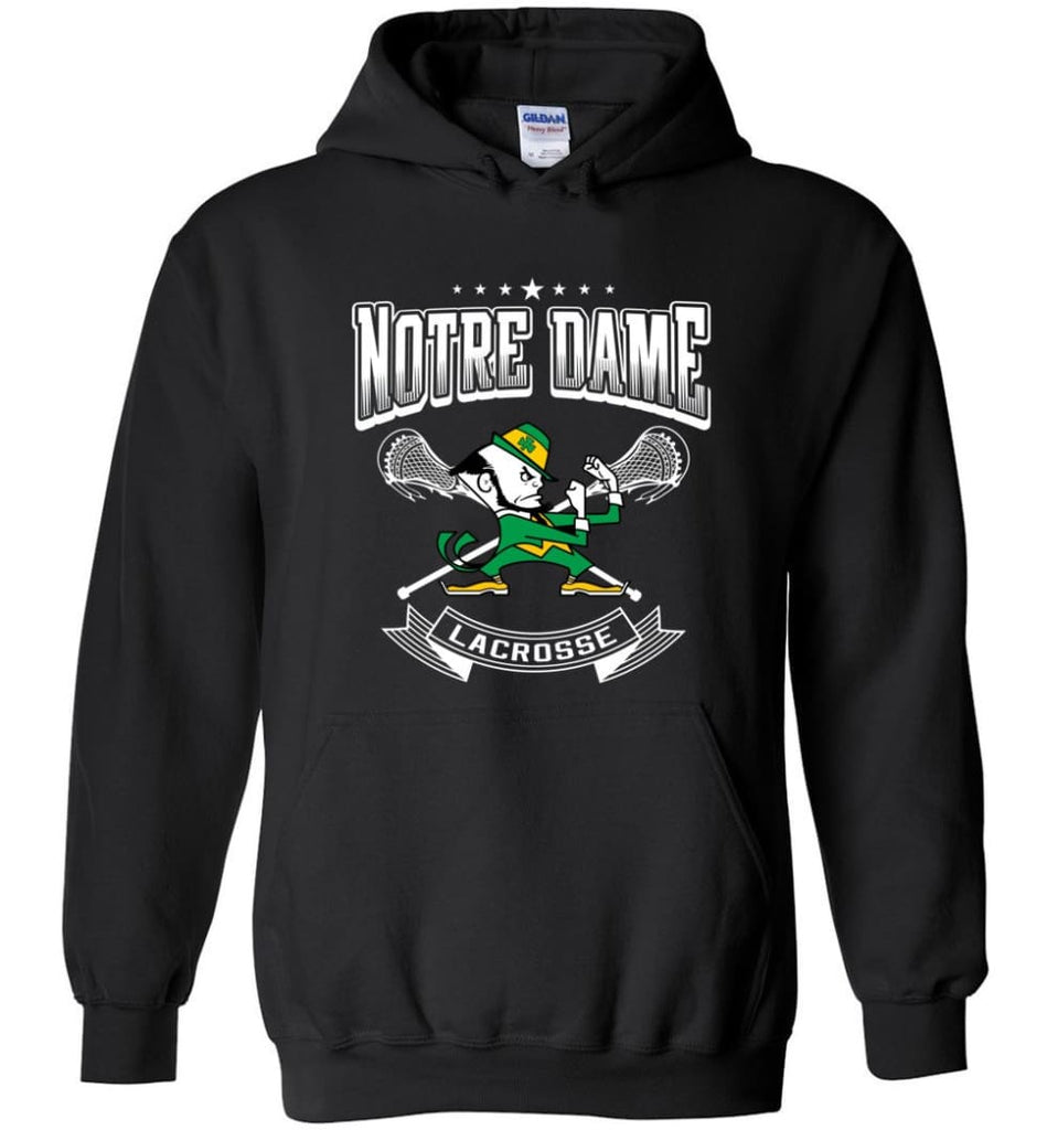 Irish Shirt St Patricks Day Shirt notre Dame Lacrosse Irish Fighting - Hoodie - Black / M