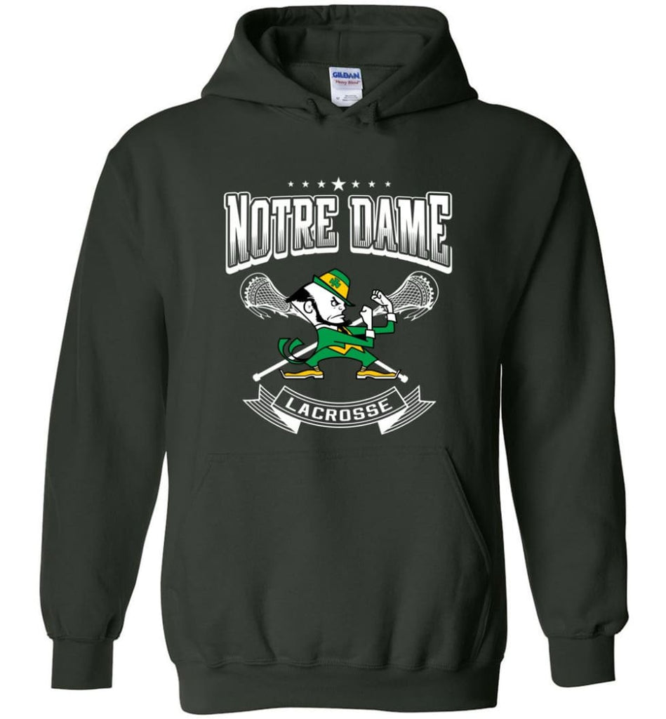 Irish Shirt St Patricks Day Shirt notre Dame Lacrosse Irish Fighting - Hoodie - Forest Green / M