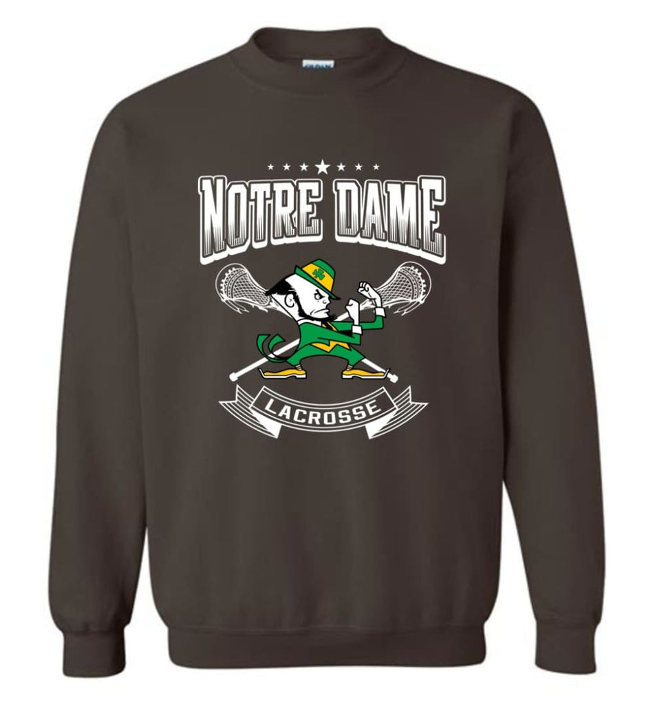 Irish Shirt St Patricks Day Shirt Notre Dame Lacrosse Irish Fighting Sweatshirt - Dark Chocolate / M