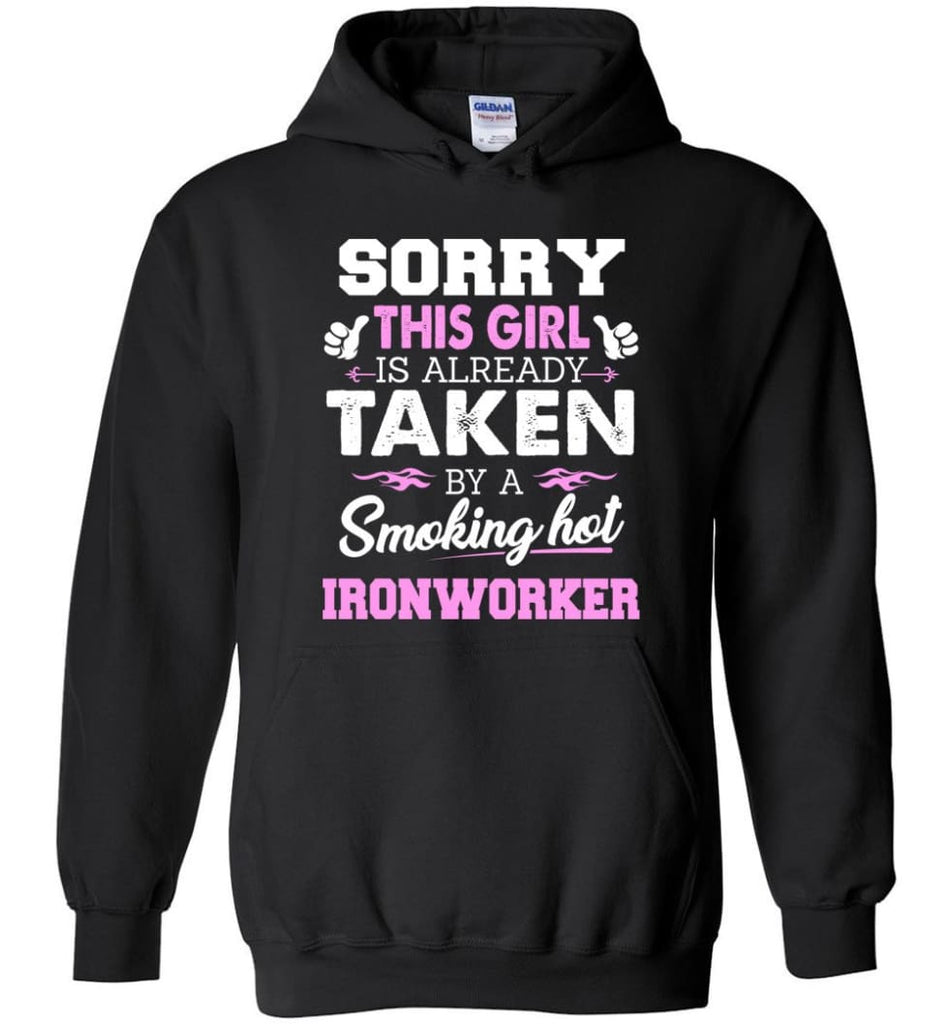 Ironworker Shirt Cool Gift for Girlfriend Wife or Lover - Hoodie - Black / M