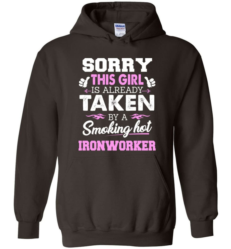 Ironworker Shirt Cool Gift for Girlfriend Wife or Lover - Hoodie - Dark Chocolate / M
