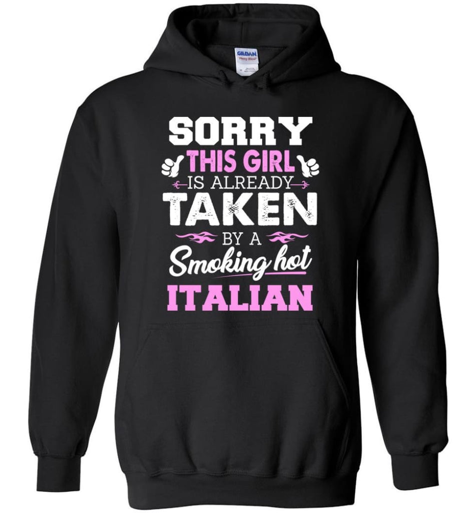 Italian Shirt Cool Gift For Girlfriend Wife Hoodie - Black / M