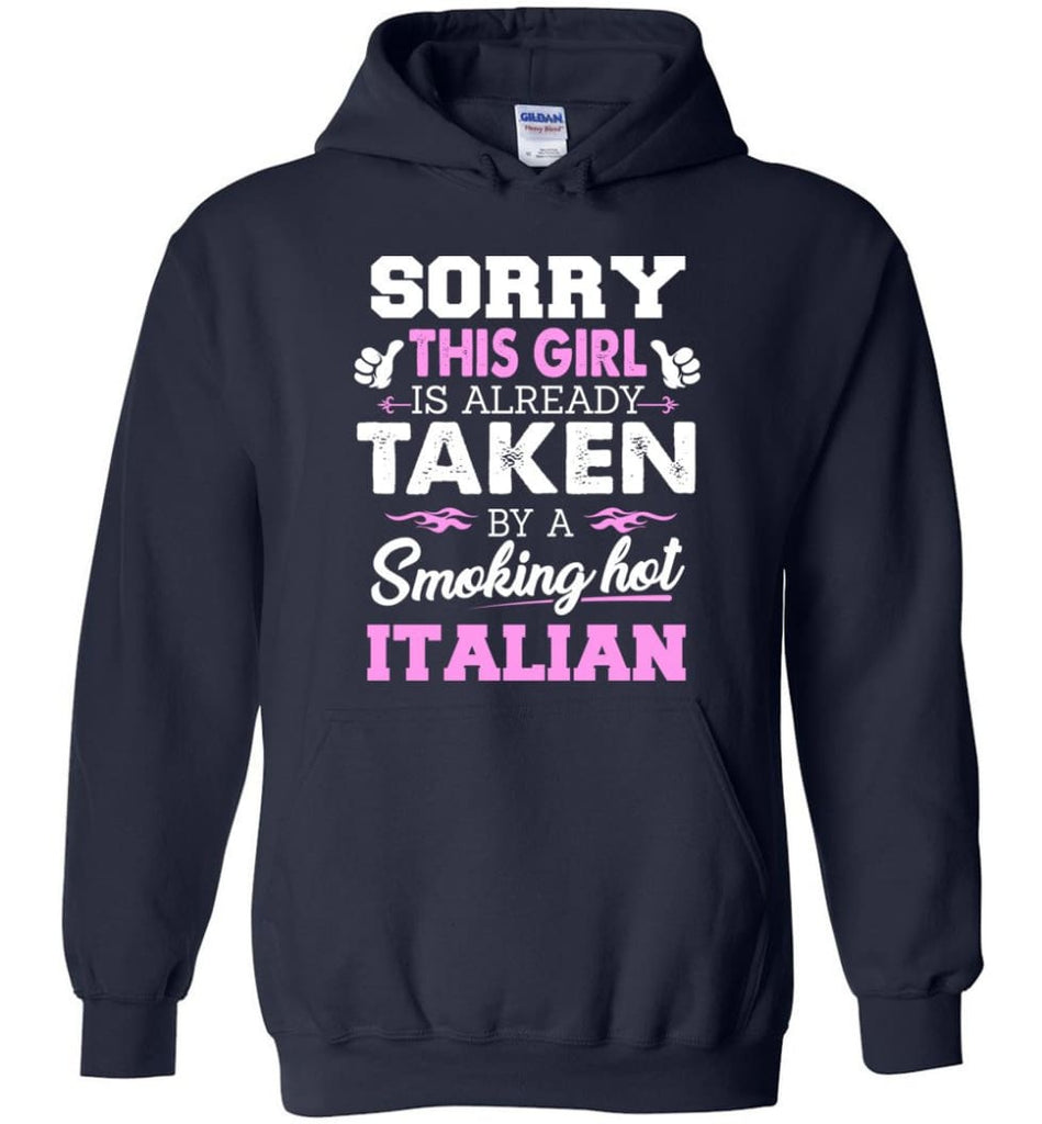 Italian Shirt Cool Gift For Girlfriend Wife Hoodie - Navy / M