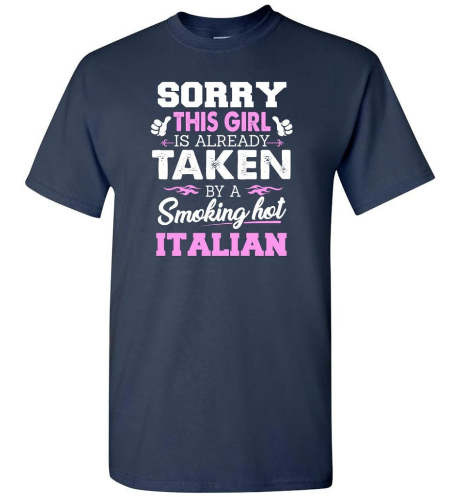 Italian Shirt Cool Gift For Girlfriend Wife T-Shirt - Navy / S