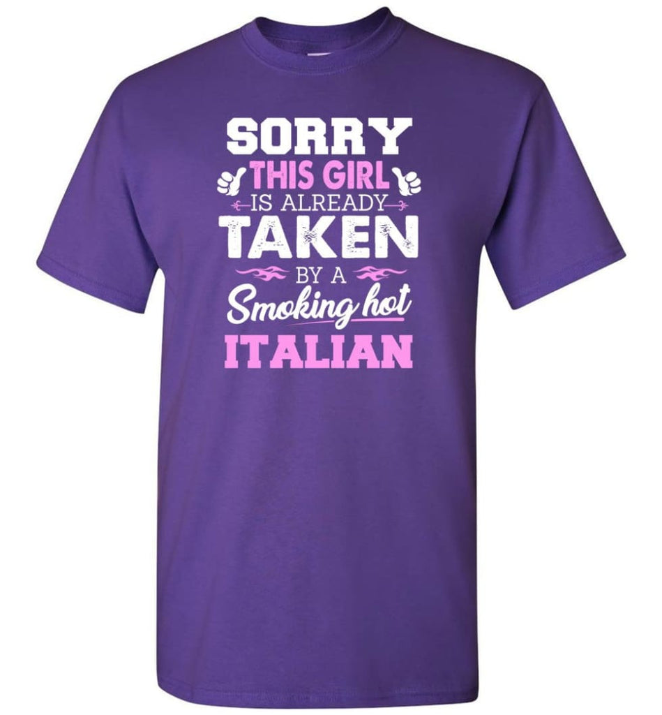 Italian Shirt Cool Gift For Girlfriend Wife T-Shirt - Purple / S