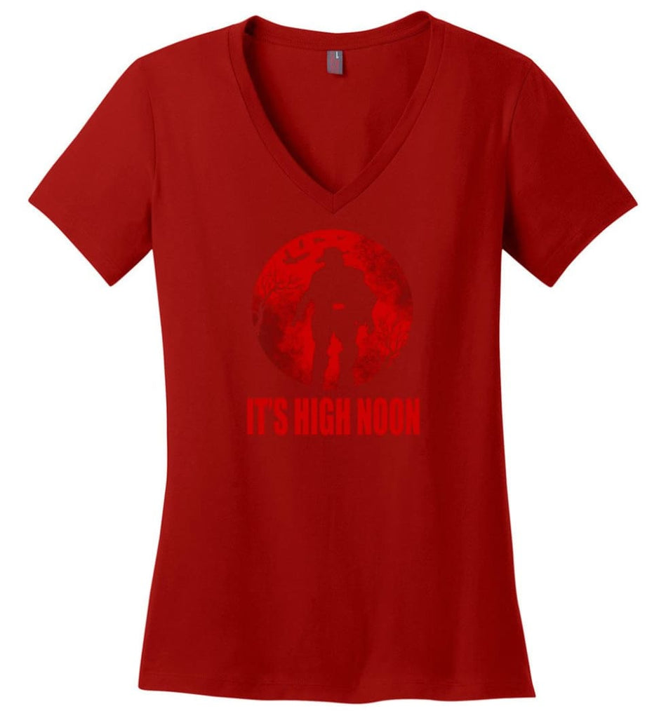 It'S High Noon Somewhere In The World T Shirt Mccree Shirt Overwatch Shirt Ladies V-Neck - Red / M