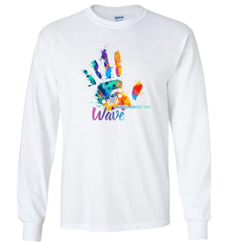 Jeep Hand Wave It's All About Wave - Long Sleeve - White / M - Long Sleeve