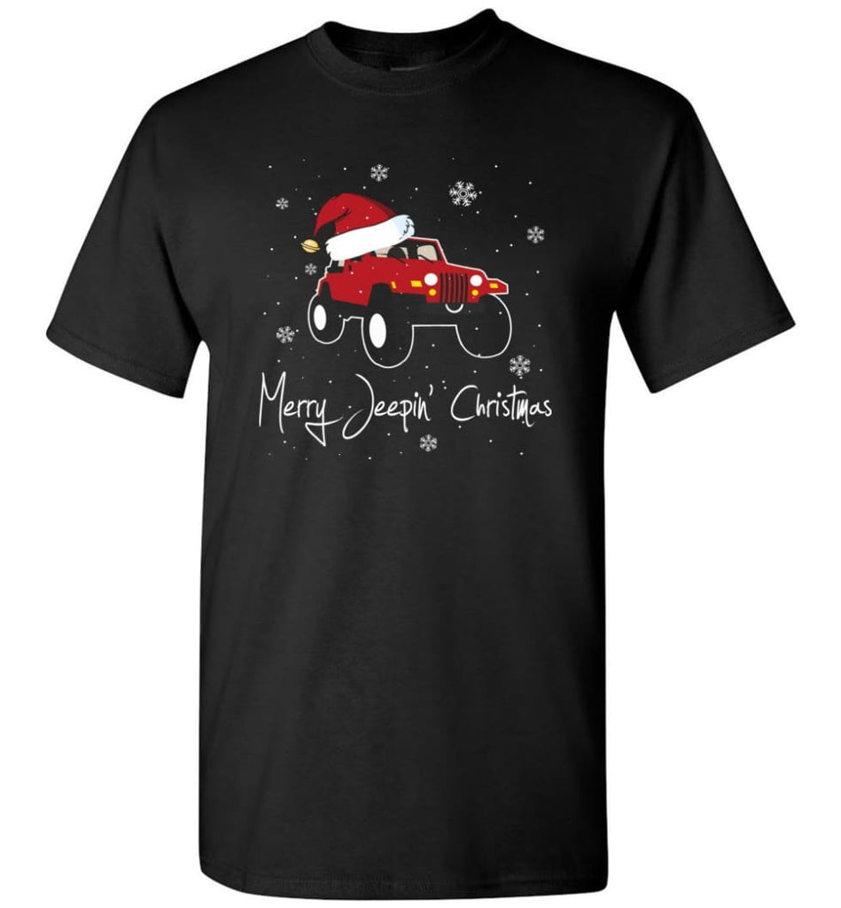 Jeep Shirt Merry Jeepas Jeep Sweatshirt Gift for Jeep Girls or Guys T-Shirt - Black / S