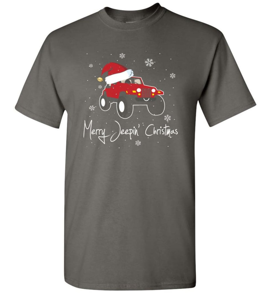 Jeep Shirt Merry Jeepas Jeep Sweatshirt Gift for Jeep Girls or Guys T-Shirt - Charcoal / S