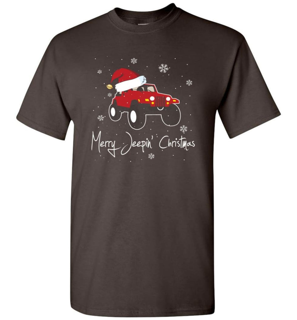 Jeep Shirt Merry Jeepas Jeep Sweatshirt Gift for Jeep Girls or Guys T-Shirt - Dark Chocolate / S