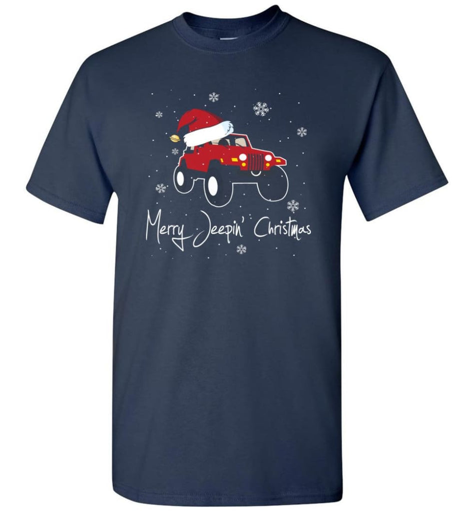 Jeep Shirt Merry Jeepas Jeep Sweatshirt Gift for Jeep Girls or Guys T-Shirt - Navy / S