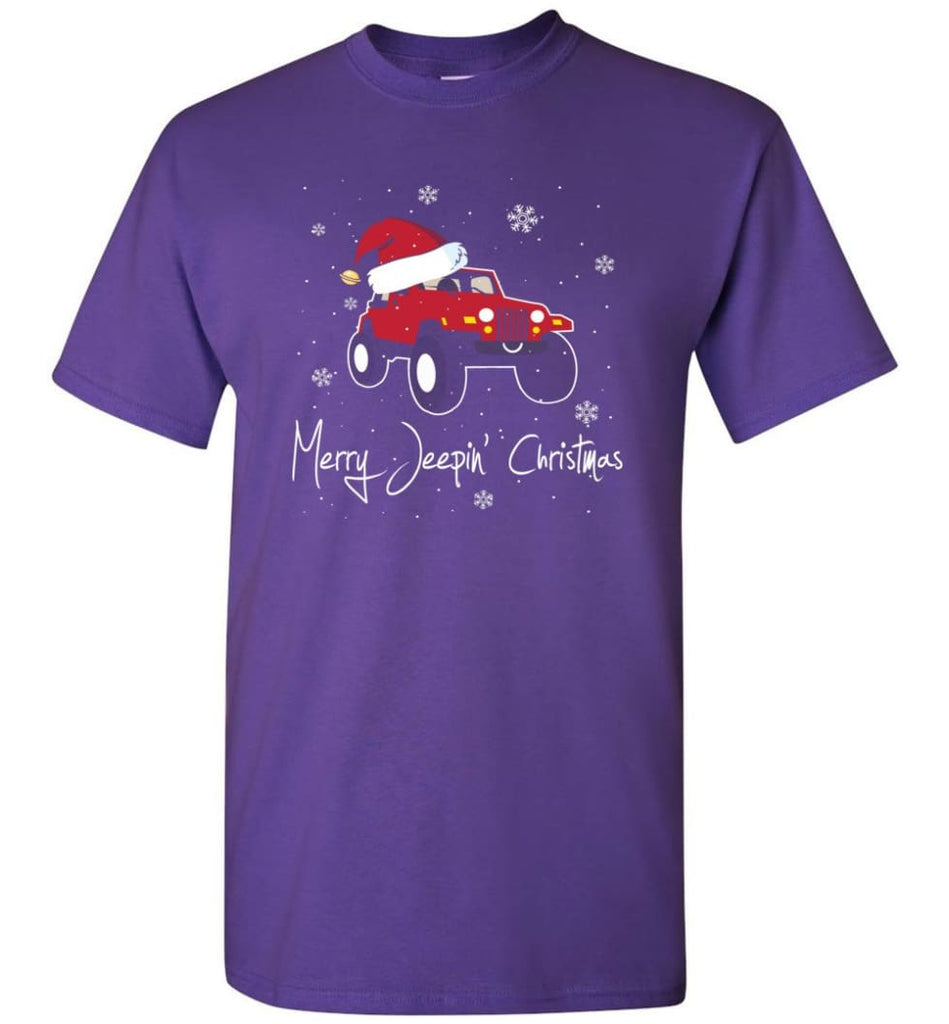 Jeep Shirt Merry Jeepas Jeep Sweatshirt Gift for Jeep Girls or Guys T-Shirt - Purple / S
