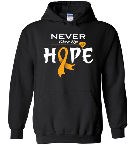 Kidney Cancer Awareness Never Give Up Hope Kidney Cancer Survivor Sweatshirt T-shirt and Hoodie - Black / M