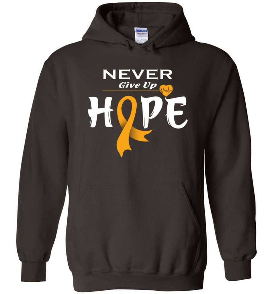 Kidney Cancer Awareness Never Give Up Hope Kidney Cancer Survivor Sweatshirt T-shirt and Hoodie - Dark Chocolate / M