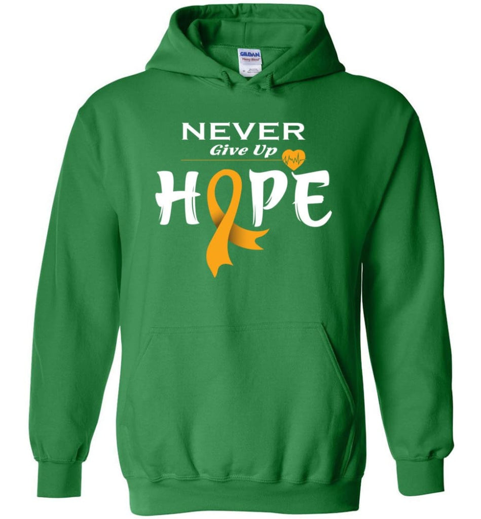 Kidney Cancer Awareness Never Give Up Hope Kidney Cancer Survivor Sweatshirt T-shirt and Hoodie - Irish Green / M