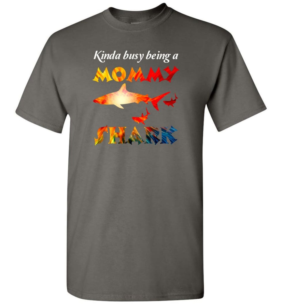 Kinda Busy Being A Mommy Shark - T-Shirt - Charcoal / S - T-Shirt