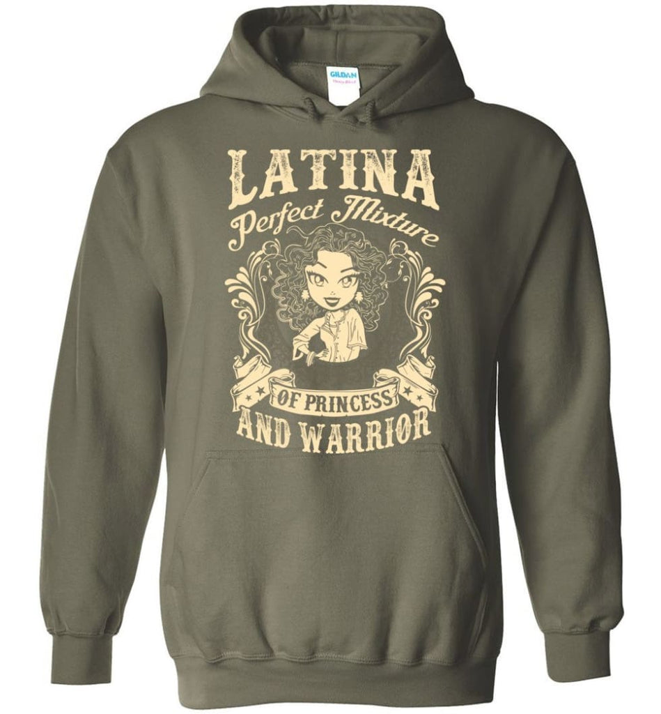 Latina Perfect Mixture Of Princess And Warrior - Hoodie - Military Green / M