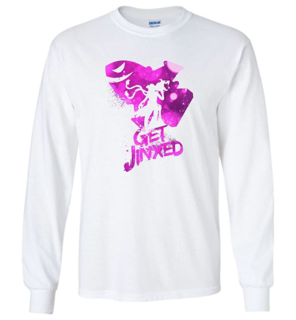 League video game Legends Get Jinxed T shirt for Lol Fans - Long Sleeve T-Shirt - White / M