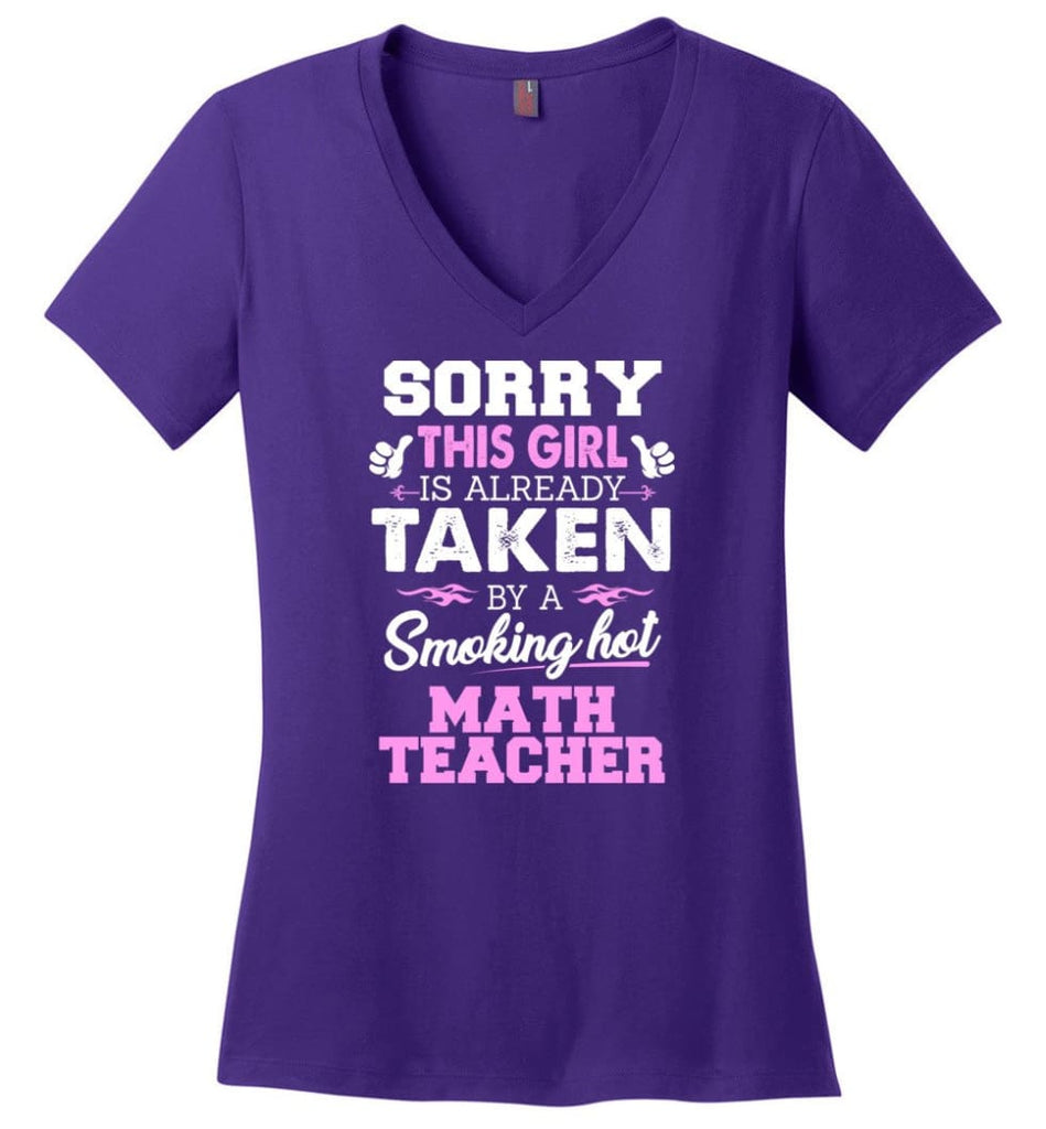 Library Worker Shirt Cool Gift for Girlfriend Wife or Lover Ladies V-Neck - Purple / M - 8